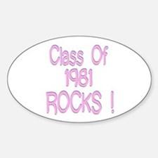 1981 Pink Oval Decal