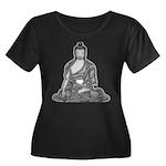Meditating Buddha Women's Plus Size Scoop Neck Dar