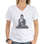Meditating Buddha Women's V-Neck T-Shirt