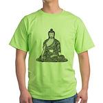 Meditating Buddha Green T-Shirt
