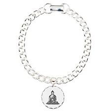 Meditating Buddha Charm Bracelet, One Charm
