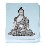 Meditating Buddha baby blanket