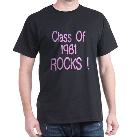 1981 Pink Black T-Shirt