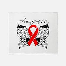 AIDS Noir Butterfly Throw Blanket
