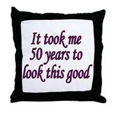Unique Over the hill 50 Throw Pillow