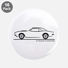 """1967, 1968, 1969 Camaro 3.5"""" Button (10 pack)"""