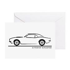 1967, 1968, 1969 Camaro Greeting Card