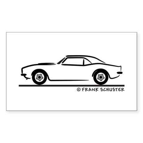 1967, 1968, 1969 Camaro Sticker (Rectangle) by FrankSchuster