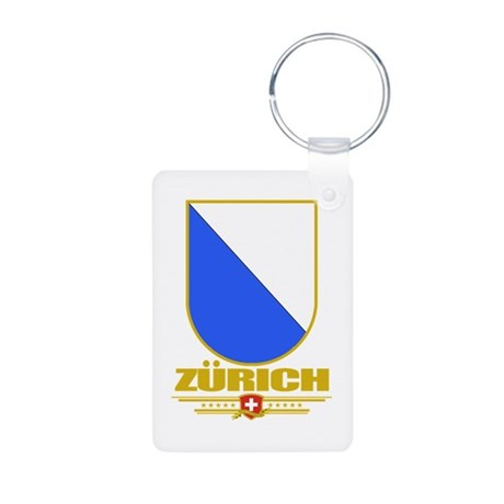 Zurich Aluminum Photo Keychain
