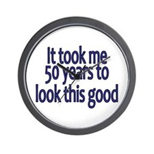 Funny Over the hill 50 Wall Clock