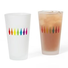 Rainbow Gnomes Drinking Glass