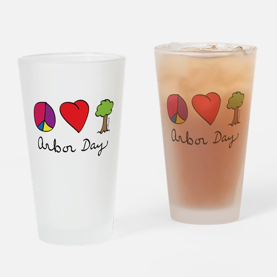 Peace, Love & Trees Drinking Glass