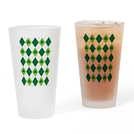 Clover Argyle Drinking Glass