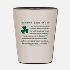 Shamrock Definition Shot Glass