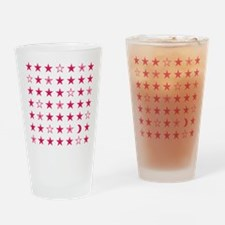 Pink Stars Drinking Glass