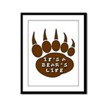 Bear Paw Framed Panel Print