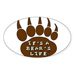 Bear Paw Sticker (Oval)