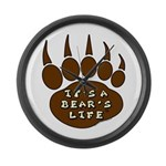 Bear Paw Large Wall Clock