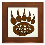 Bear Paw Framed Tile