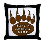 Bear Paw Throw Pillow