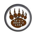 Bear Paw Wall Clock
