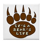 Bear Paw Tile Coaster