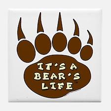 Bear Paw Tile Coaster