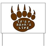 Bear Paw Yard Sign