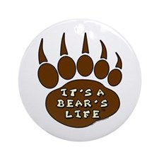 Bear Paw Ornament (Round)