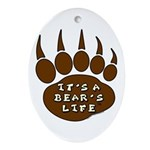 Bear Paw Ornament (Oval)