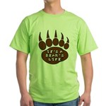 Bear Paw Green T-Shirt