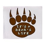 Bear Paw Throw Blanket