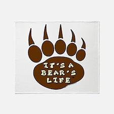 Bear Paw Throw Blanket