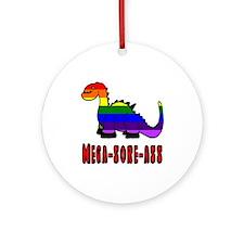 Gay Dinosaur Mega-Sore-Ass Ornament (Round)