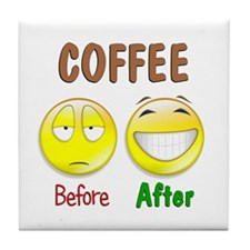 Coffee Humor Tile Coaster