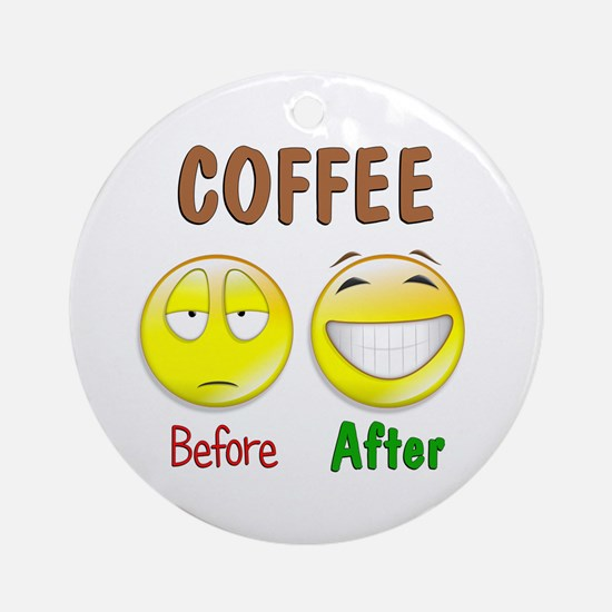 Coffee Humor Ornament (Round)