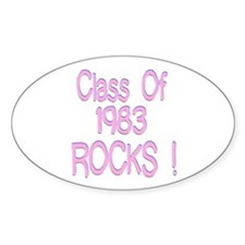 1983 Pink Oval Decal