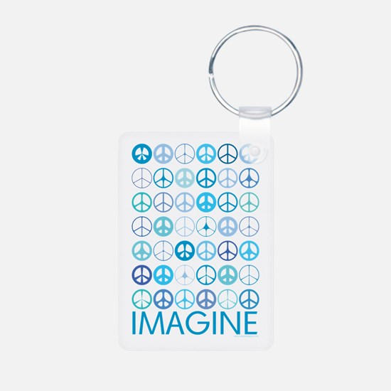 Imagine Peace Signs Keychains