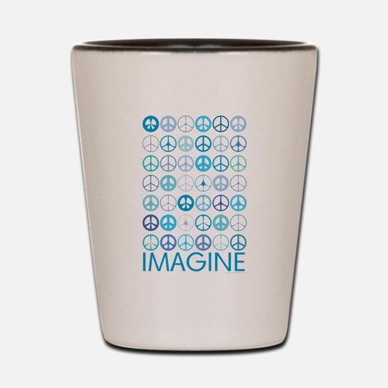 Imagine Peace Signs Shot Glass