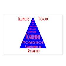 Illinois Food Pyramid Postcards (Package of 8)