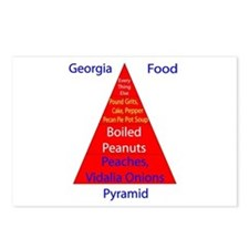 Georgia Food Pyramid Postcards (Package of 8)