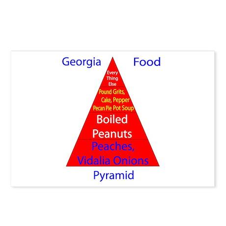 Georgia Food Pyramid Postcards (Package of 8)