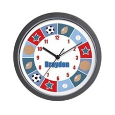 All Stars Sports Wall Clock - Brayden