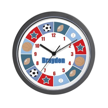 All Stars Sports Wall Clock - Brayden