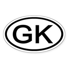 GK - Initial Oval Oval Decal