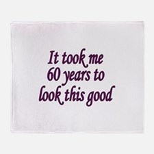 Funny 60 years old Throw Blanket