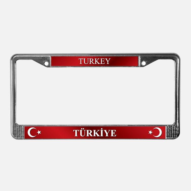 Turkish Flag License Plate Frame