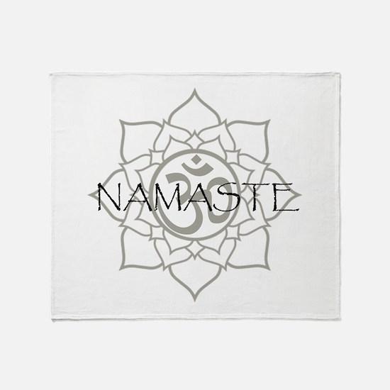 Namaste Om Throw Blanket