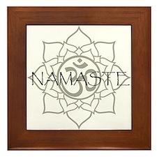 Namaste Om Framed Tile