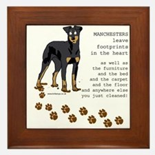 Manchester Terriers Framed Tile